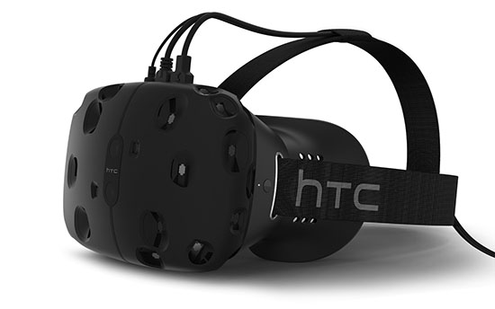Image of the HTV Vive headset against a white background