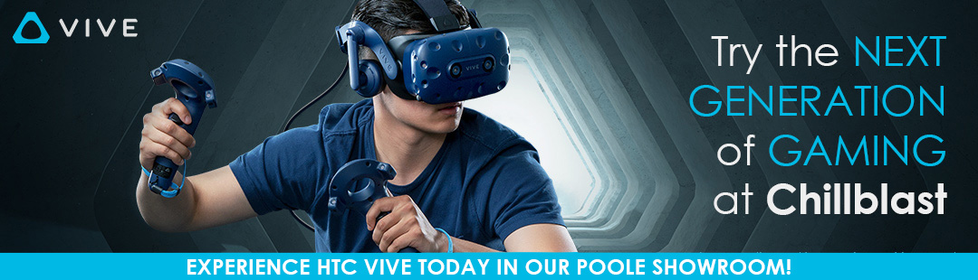 Try HTC Vive today at Chillblast in our Poole Showroom