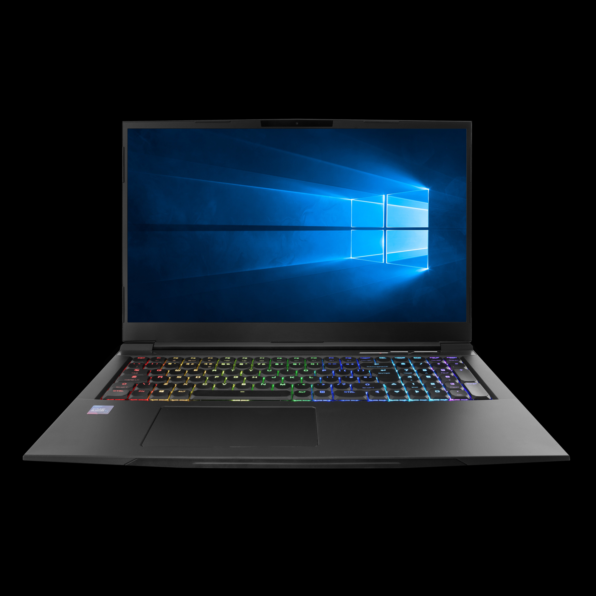 Image of a Chilblast gaming laptop with an RGB keyboard