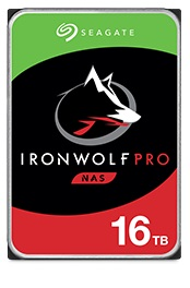 Image of the design on the front of the 16TB IronWolf HDD drive