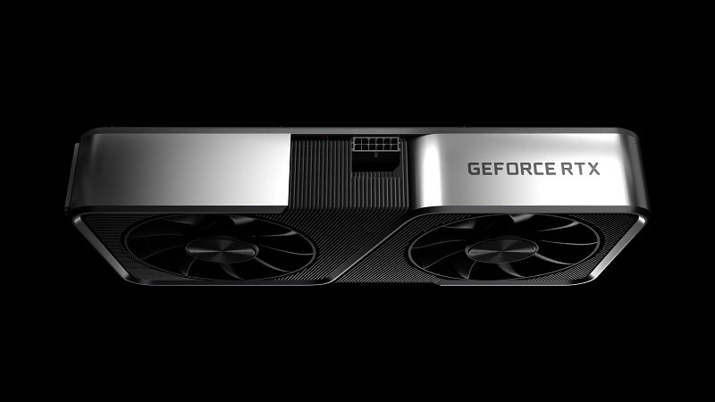 Image showing the side and fans underneath the RTX 3070