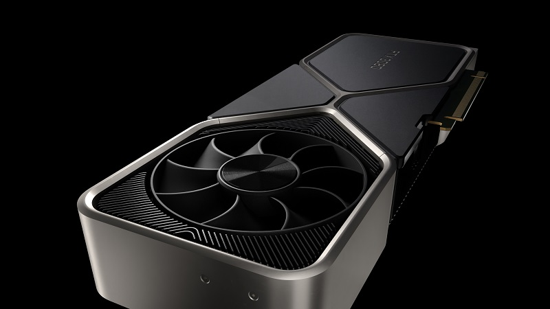 Image showing the fan on top of the RTX 3080