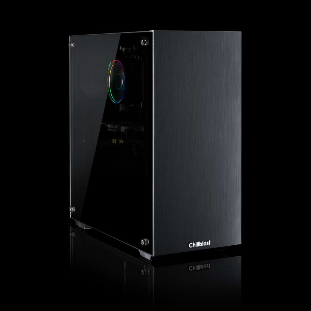 Image of the Fusion Recoil Gaming PC against a dark background