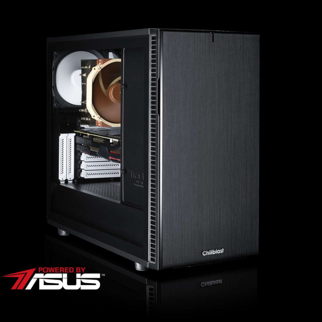 Image of the Chillblast Serenity Elite Gaming PC in front of a black background