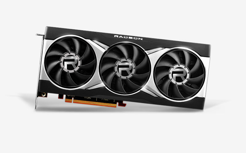 Image of an AMD RX 6800 XT GPU against a white background