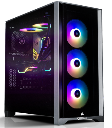 Image of a Chillblast gaming PC against a white background