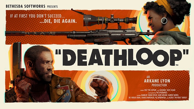 Poster for the upcoming Bethesda game Deathloop