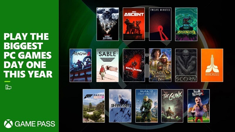 Promotional image for Xbox game pass