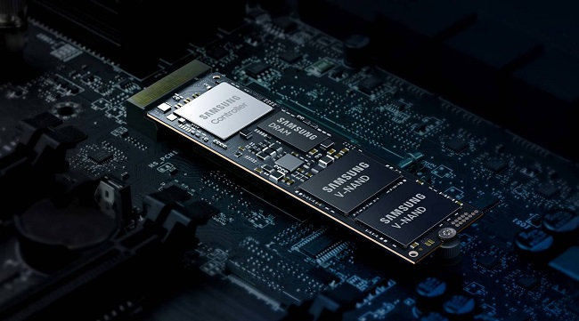 Promotional image showcasing the new controllers on the Samsung 980 Pro NVMe SSD