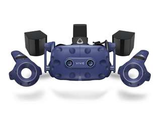 HTC Vive Pro Eye VR Headset Full Kit including Controllers and Base Stations