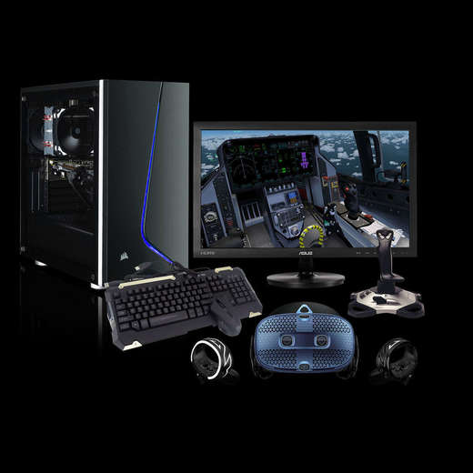 Chillblast Fusion RTX 2070 Custom VR Sim PC - Silver Bundle