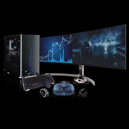 PRE-ORDER - Chillblast Fusion RTX 3080 Custom VR Sim PC - Gold Bundle